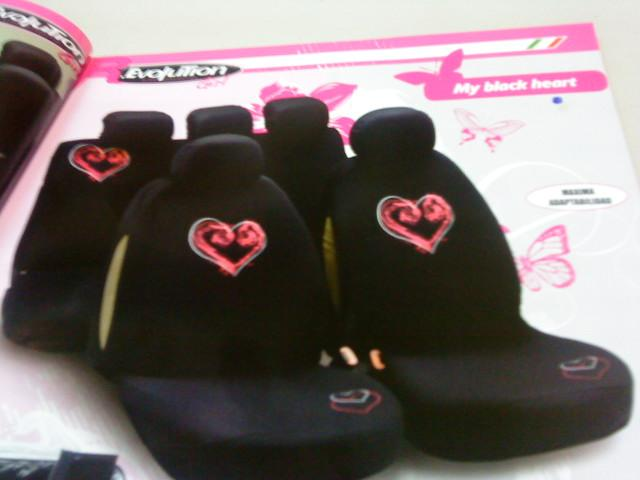 FUNDAS ASIENTO BOTTARI MY BLAK HEART REF. 29002